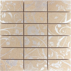 Mosaic Tiles Teros Ornament Flower Light Beige