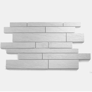 Mosaic Tiles Quartzite Optic Light Grey