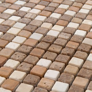 Mosaic Tiles Marble Brown Mix 15x15x8mm
