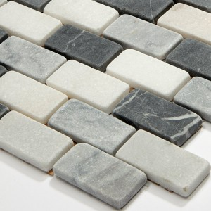 Mosaic Tiles Marble 23x48x8mm Black Mix
