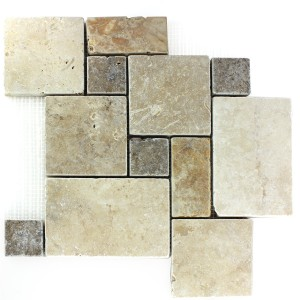 Travertine Tiles Roman Pattern