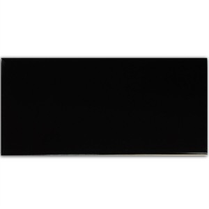 Metro Wall Tiles Black Mat 10x30cm