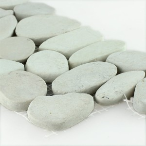River Pebbles Border 10x30cm Creme Pebble