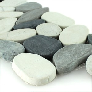 River Pebbles Border 10x30cm Anthracite Creme Pebble