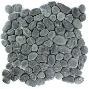 Mosaic Tiles River Pebbles Anthracite