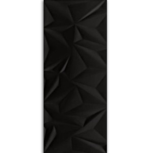 Wall Tiles Structured Fracture Black 30x80cm