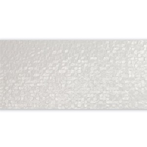 Wall Tiles Waffel Silver Decor Glossy 24x69cm