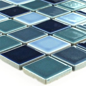 Mosaic Tiles Ceramic Blue Mix Glossy