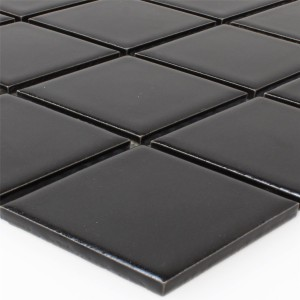 Mosaic Tiles Ceramic Black Uni