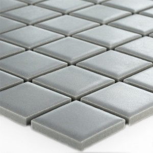 Mosaic Tiles Ceramic Grey Mat Uni
