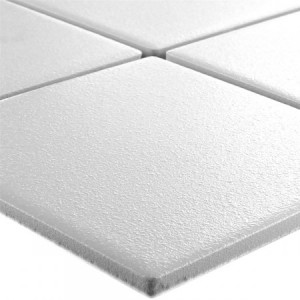 SAMPLE Mosaic Tiles Ceramic White Uni Non-Slip