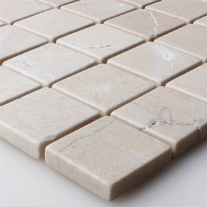 Mosaic Tiles Natural Stone Marble Botticino Anticato 32x32x8mm
