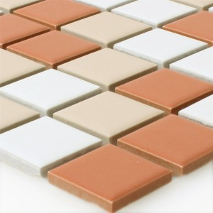 Mosaic Tiles Ceramic White Creme Terrakotta Mix