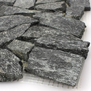 Mosaic Tiles Natural Stone Quartzite Black