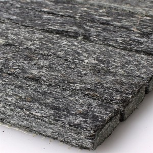 Mosaic Tiles Natural Stone Quartzite Sticks Black