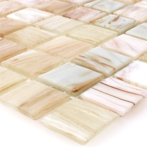 Mosaic Tiles Glass Goldensilk Light Beige
