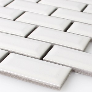 Mosaic Tiles Ceramic Metro Facet White Glossy