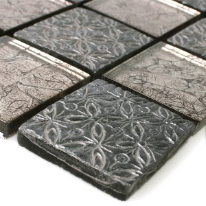 Mosaic Tiles Glass Natural Stone Resin Friesia Silver