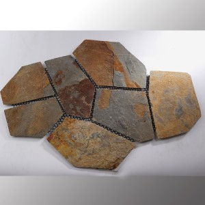 Polygonalplatten Quartzite Multi