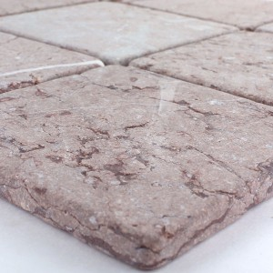 Mosaic Tiles Marble 100x100x8mm Mars Red