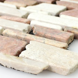 Mosaic Tiles Marble Natural Stone Brick Biancone Rosso