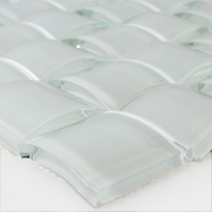 SAMPLE Mosaic Tiles Glass 3D Effect White Uni
