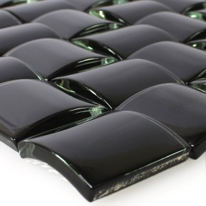 SAMPLE Mosaic Tiles Glass 3D Effect Black Uni