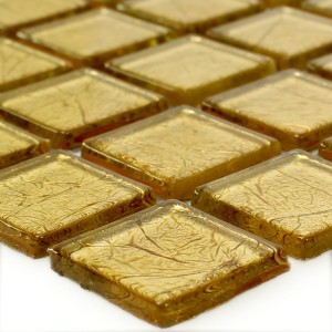 SAMPLE Mosaic Tiles Glass Gold Structured