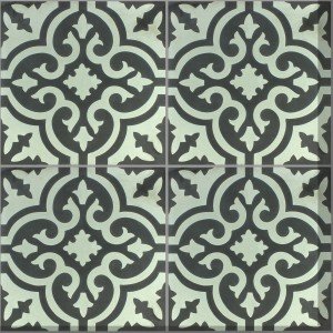 Cement Tiles Nottingham Black White