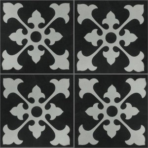 Cement Tiles Oxford Black White
