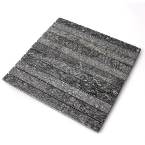 SAMPLE Mosaic Tiles Natural Stone Quartzite Sticks Black