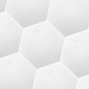 Cement Tiles Hexagon Rugby White Uni