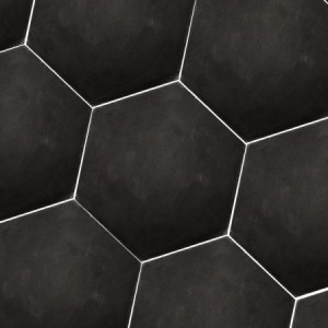 SAMPLE Cement Tiles Hexagon Gosport Black Uni