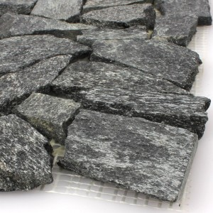 SAMPLE Mosaic Tiles Natural Stone Quartzite Black