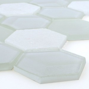 SAMPLE Mosaic Tiles Glass Natural Stone White 3D