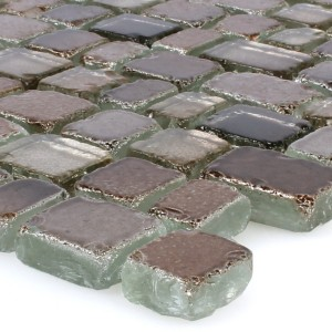 Mosaic Tiles Glass Roxy Brown Silver