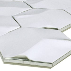 Mosaic Tiles Stainless Steel Contender Hexagon Glossy