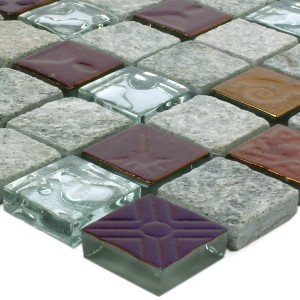 Mosaic Tiles Sheldrake Grey Silver