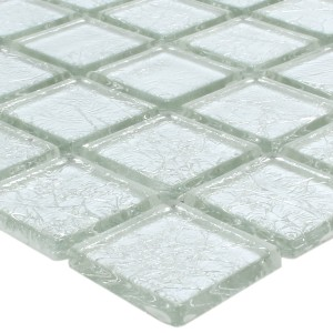 Mosaic Tiles Glass Lucca Silver 23x23x4mm