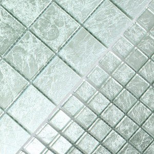Mosaic Tiles Glass Lucca Silver