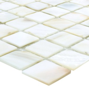 SAMPLE Mosaic Tiles Shell Kordon White