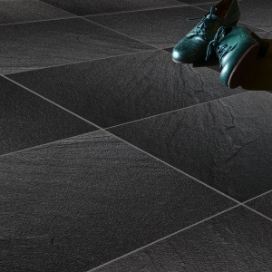 Floor Tiles Slate Optic Black