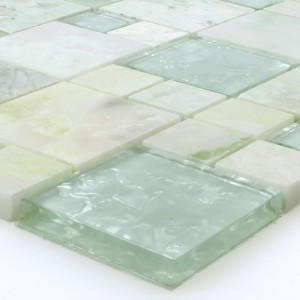 Mosaic Tiles Onyx Larinera Green Gold Mix