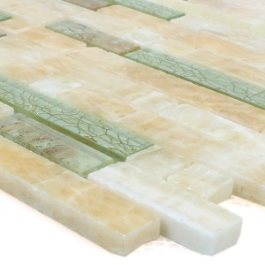 Mosaic Tiles Onyx Larinera Gold Pattern
