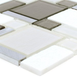 Mosaic Tiles Material Mix Echo White Beige