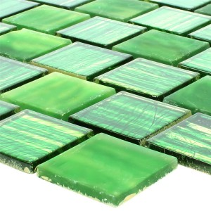 Glass Mosaic Lanzarote Green Slim