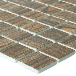 Mosaic Tiles Glass Valetta Wood Structure Brown