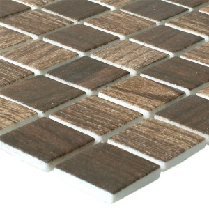 Mosaic Tiles Glass Valetta Wood Structure Dark Brown