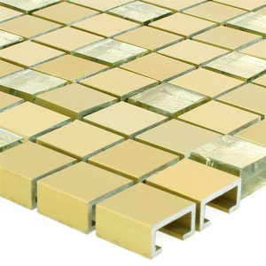 Mosaic Tiles Lissabon Aluminium Glass Mix Gold