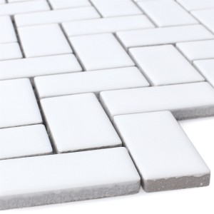 Mosaic Tiles Ceramic Casillas White Mat